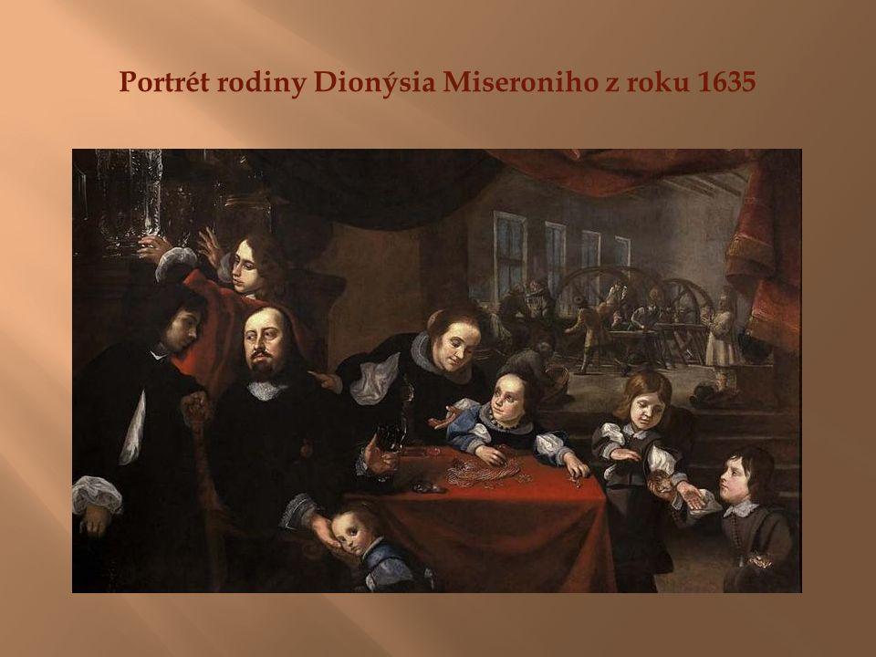 Portrét rodiny Dionýsia Miseroniho z roku 1635
