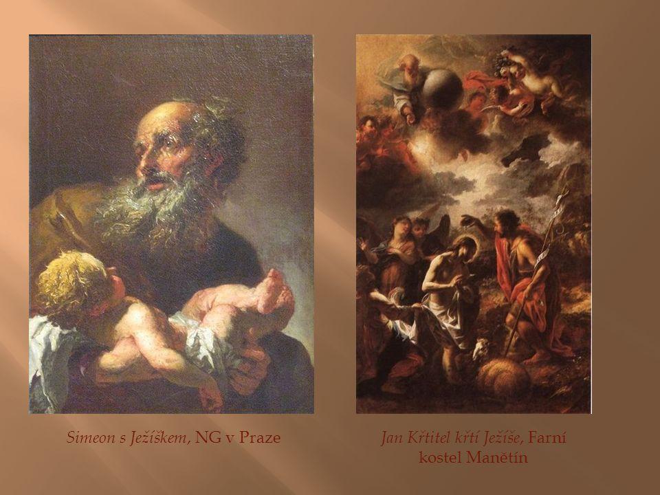 Simeon s Ježíškem, NG v Praze Jan Křtitel křtí Ježíše, Farní kostel Manětín