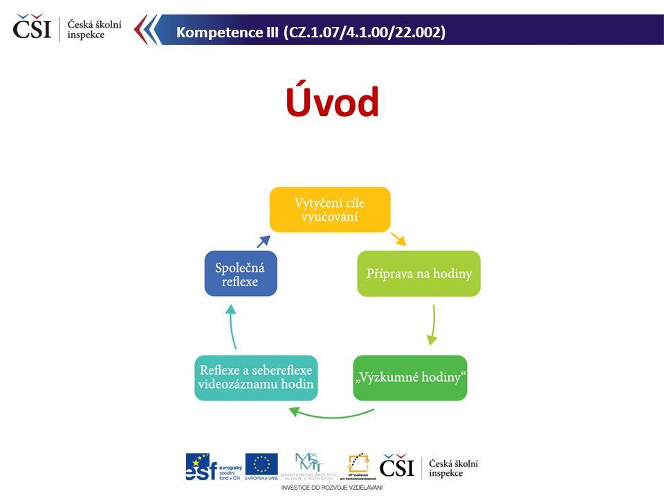 Úvod Kompetence III (CZ.1.07/4.1.00/22.002)
