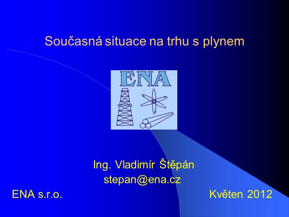 Současná situace na trhu s plynem Ing. Vladimír Štěpán stepan@ena.cz ENA s.r.o. Květen 2012