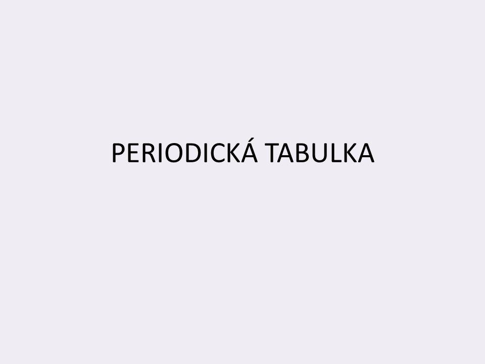 Periodická tabulka je grafickým znázorněním periodického zákona.