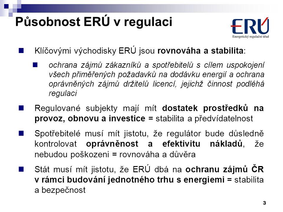 3 Klíčovými východisky ERÚ jsou rovnováha a stabilita: ochrana zájmů zákazníků a spotřebitelů s cílem uspokojení všech přiměřených požadavků na dodávk