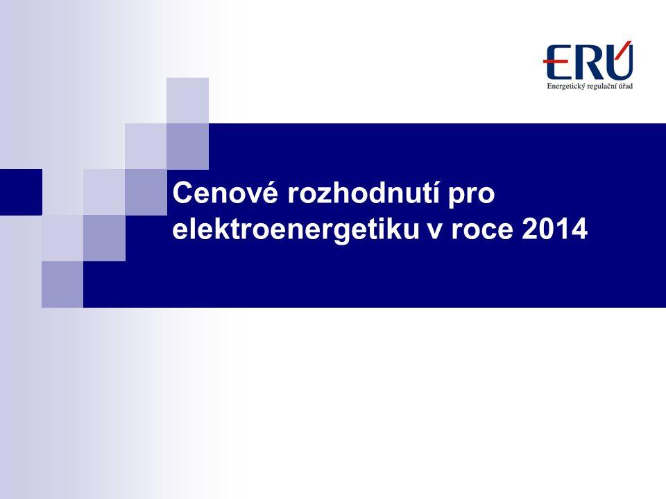 Cenové rozhodnutí pro elektroenergetiku v roce 2014