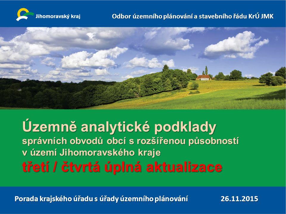 Odbor územního plánování a stavebního řádu KrÚ JMK Územně analytické podklady 12 ukázka pracovního prostředí GMSC