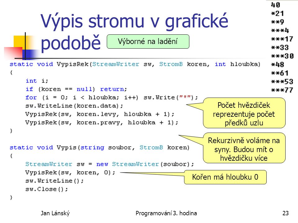 Jan LánskýProgramování 3.