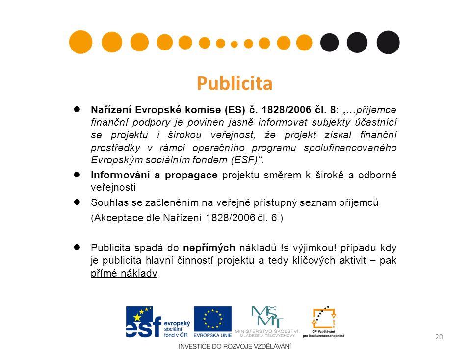 Publicita Nařízení Evropské komise (ES) č. 1828/2006 čl.