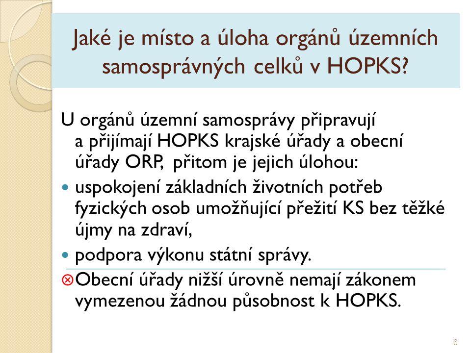 Jaké je místo a úloha orgánů územních samosprávných celků v HOPKS.