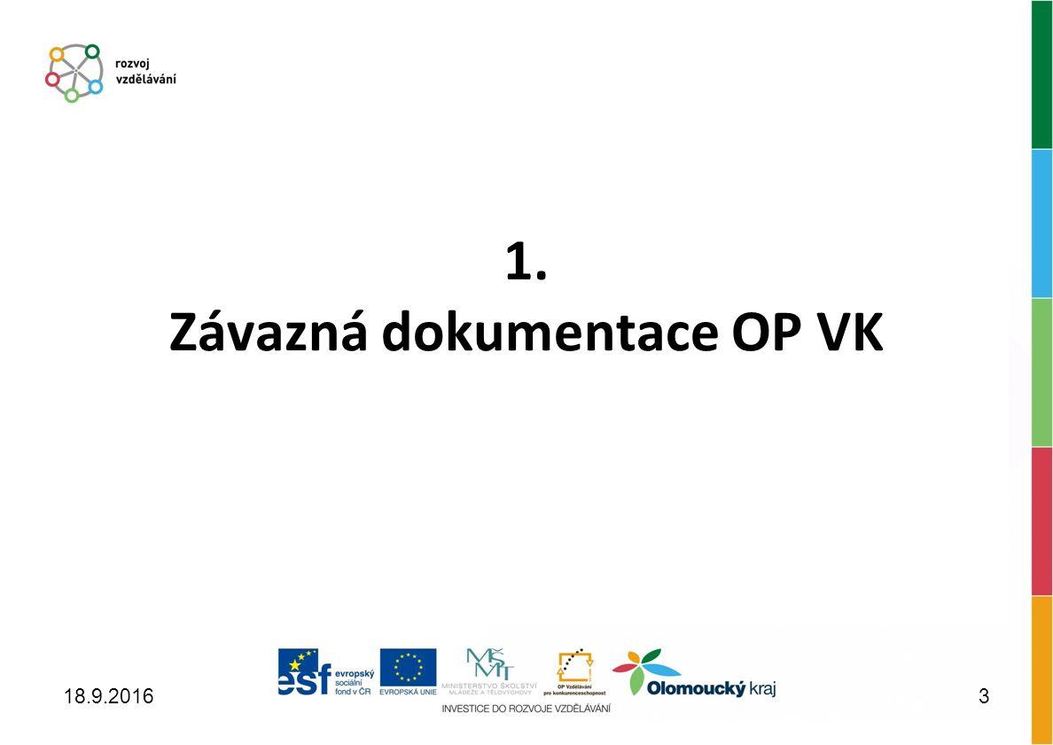 1. Závazná dokumentace OP VK 18.9.20163