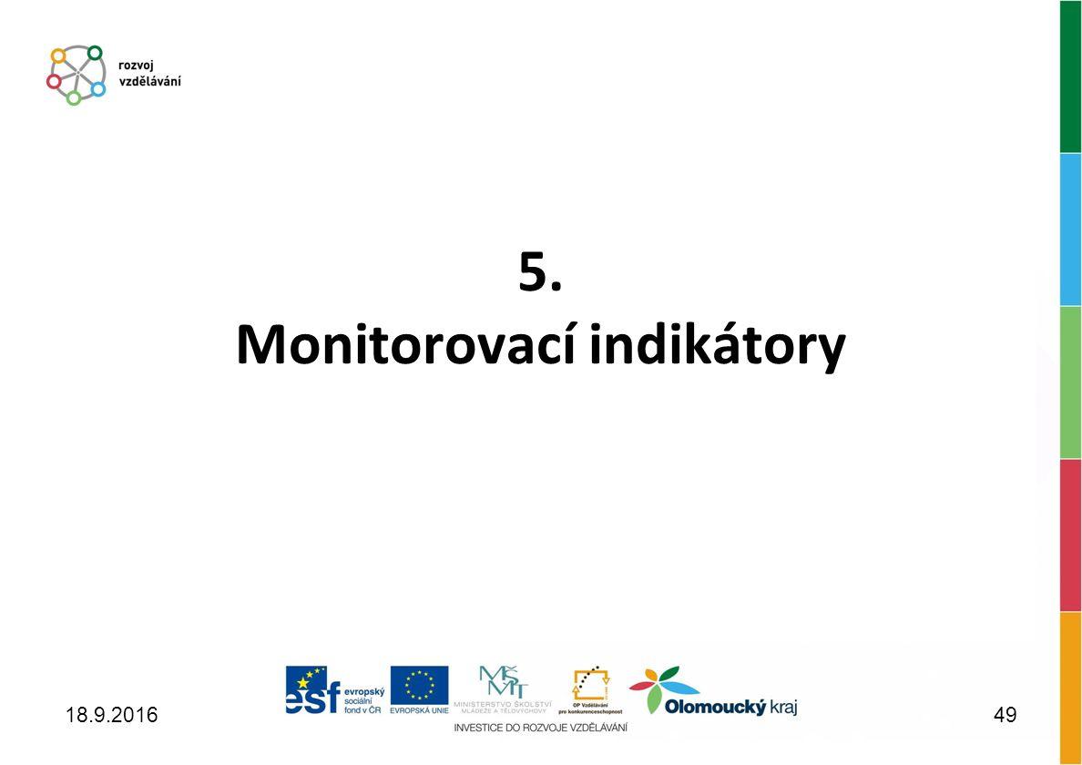 5. Monitorovací indikátory 18.9.201649