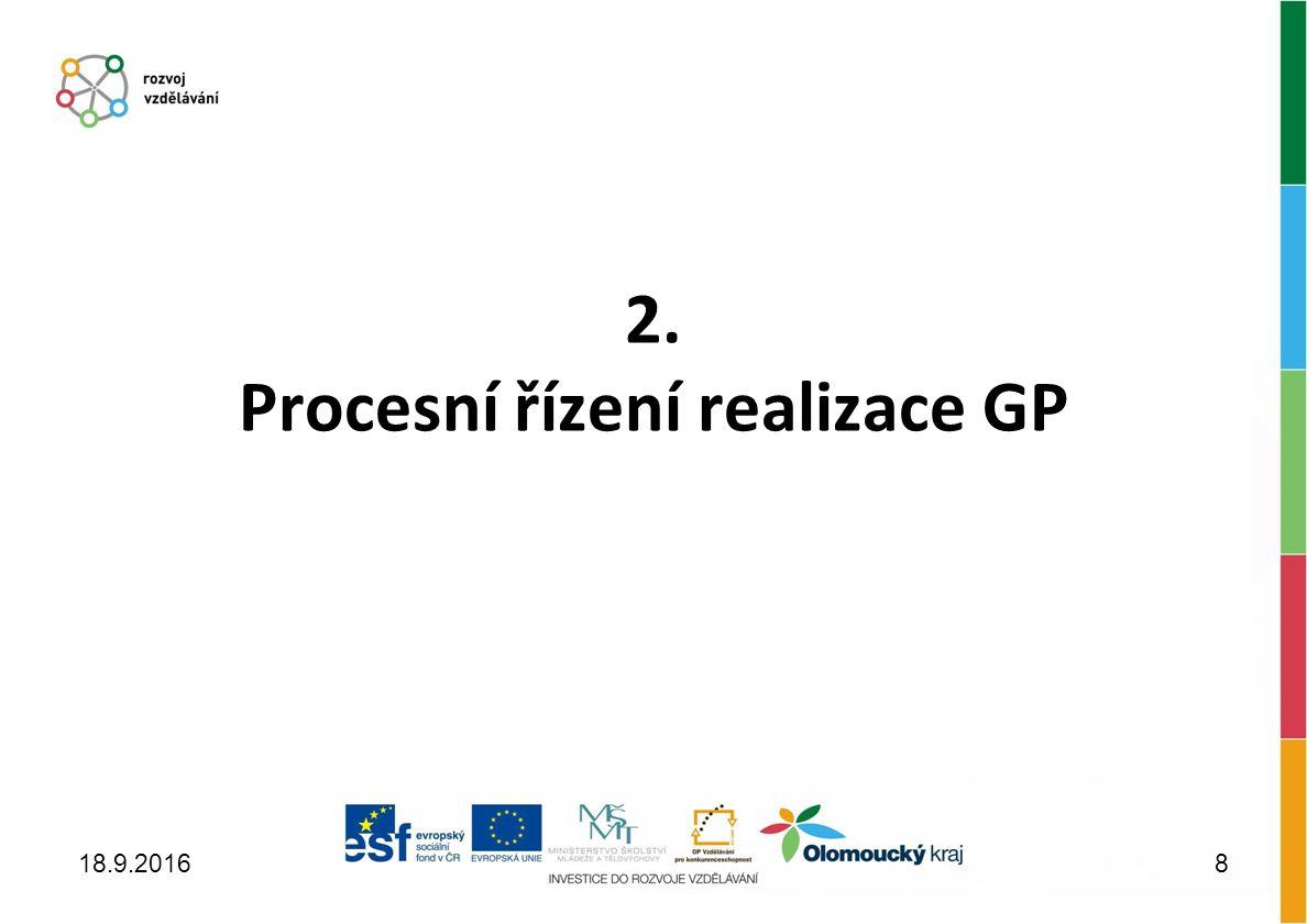 2. Procesní řízení realizace GP 18.9.20168