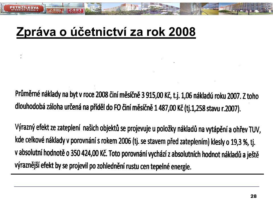 Zpráva o účetnictví za rok 2008 28