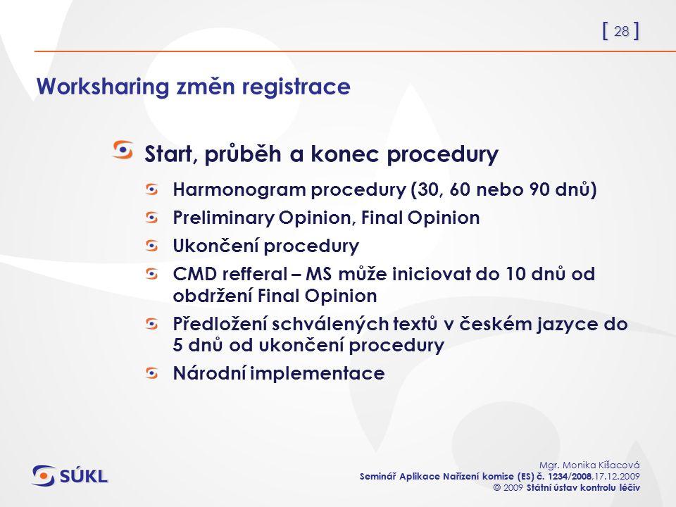 [ 28 ] Mgr. Monika Kišacová Seminář Aplikace Nařízení komise (ES) č.
