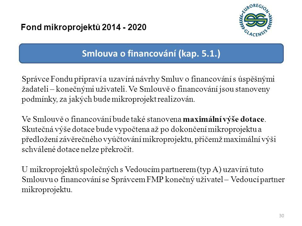 Smlouva o financování (kap.
