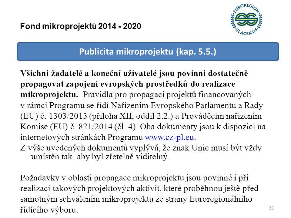 Publicita mikroprojektu (kap.