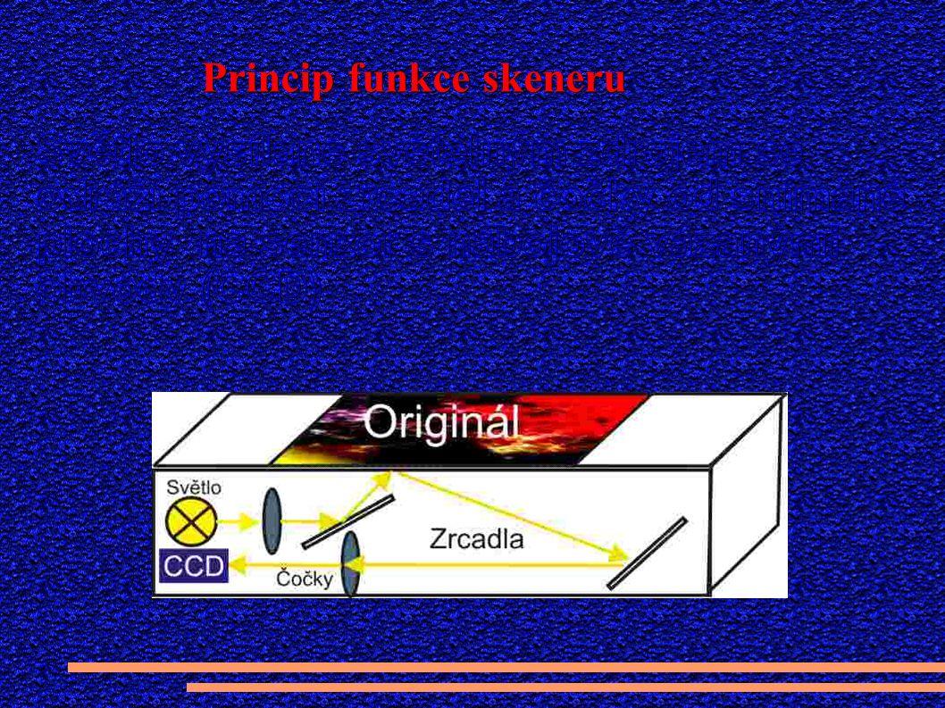 Princip funkce skeneru