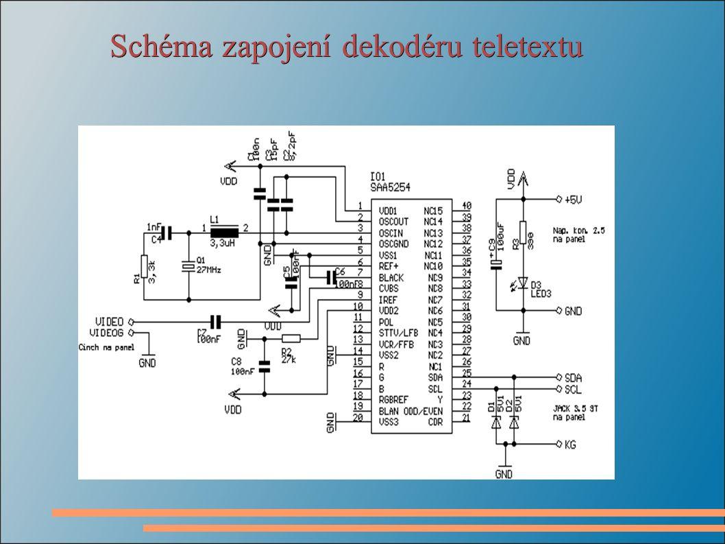 Schéma zapojení dekodéru teletextu