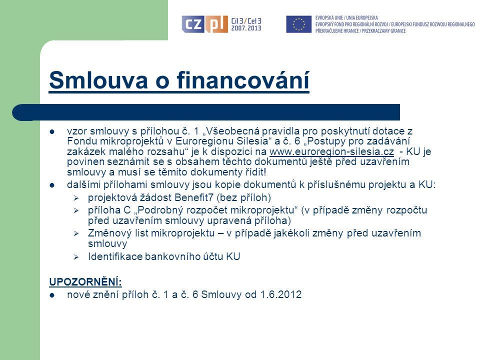 Smlouva o financování vzor smlouvy s přílohou č.