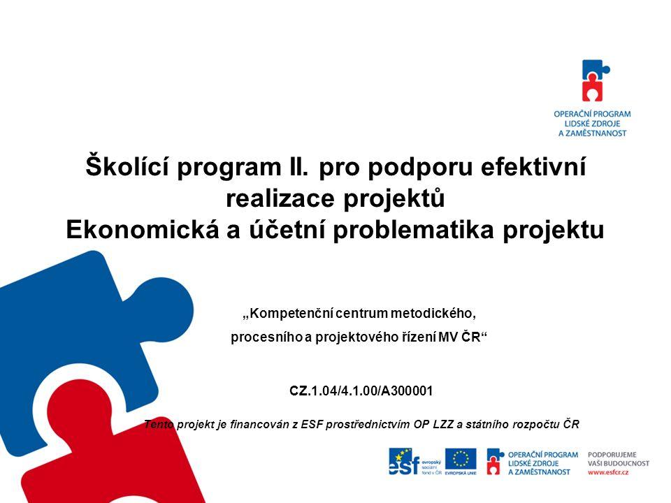 Odborné útvary MV Odbor strukturálních fondů (OSF) Samostatné oddělení strategií a koncepcí Samostatné oddělení pro fondy Evropské unie v oblasti vnitřních věcí Ekonomický odbor (EO) Odbor programového financování (OPF) Odbor účetnictví a statistiky (OUS)