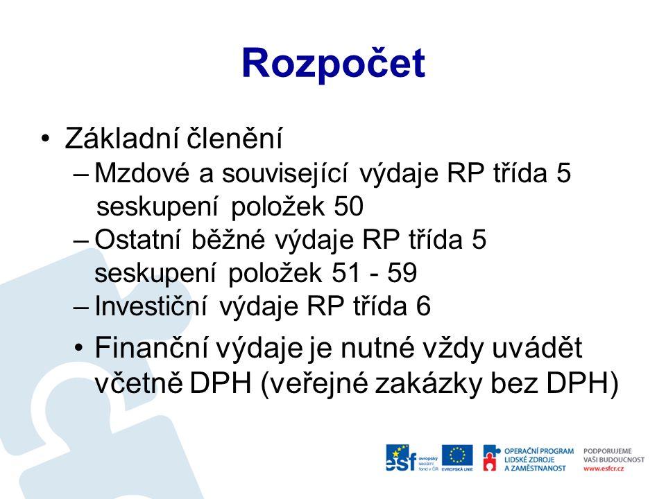 Projektové procesy Průběžné monitorování projektu –Status report a Monitorovací zpráva –Žádost o platbu Ukončení projektu –Závěrečná monitorovací zpráva –Žádost o platbu Zajištění udržitelnosti projektu