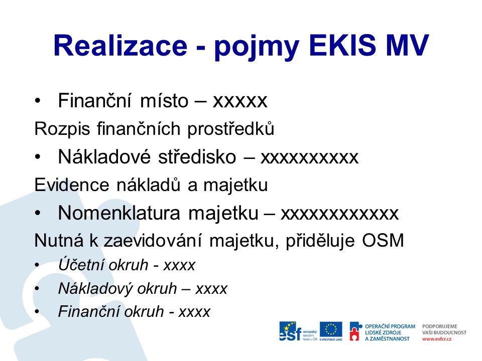 AZNNNPP.XXXYYYY –Zdroj (A) – výčet přípustných hodnot: 1 = Základní rozpočet (P/V) 2 = Rezervní fond (P/V) 3 = Mimorozpočtové prostředky (P/V) 4 = Nároky (V) 5 = Výdaje v rámci překročení rozpočtu podle zvláštních zákonů –Zdroj (Z) – výčet přípustných hodnot: 1 = Prostředky CZ (včetně prostředků, které nejsou spolufinancováním příjmů a výdajů EU/FM/NATO) 2 = Prostředky CZ (nezpůsobilé výdaje) 3 = Vícezdrojové financování CZ 5 = Prostředky EU/FM/NATO a jiné prostředky ze zahraničí –NNN číselník nástrojů –PP číselník analytik nástrojů (fondy) –XXX a YYYY jsou prvé dvě skupiny znaků ze stávajících funkčních oblastí (zajistí jednoznačnou identifikaci jednotlivých projektů)