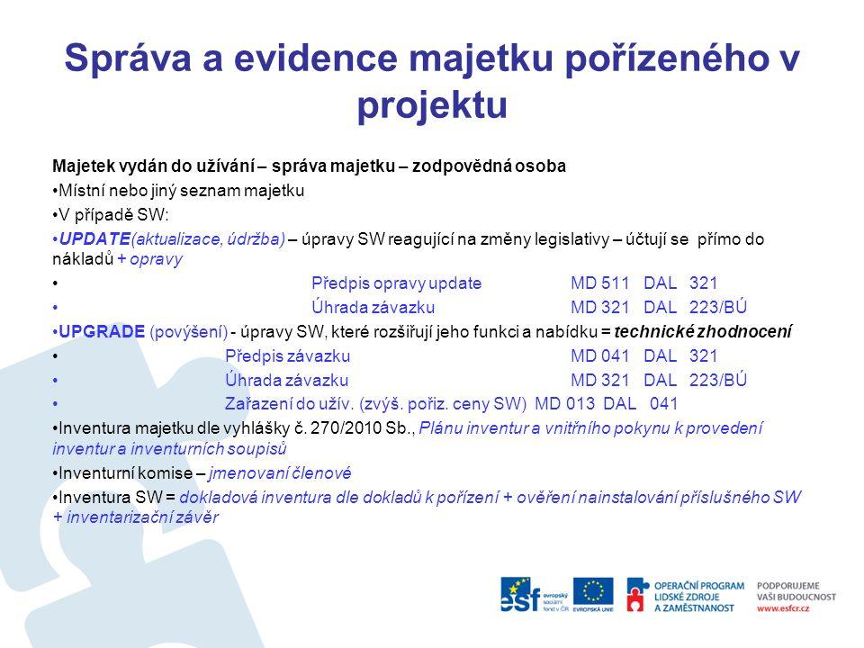 Správa a evidence majetku pořízeného v projektu Karta majetku - Technické údaje Výrobce Gordic a.s.