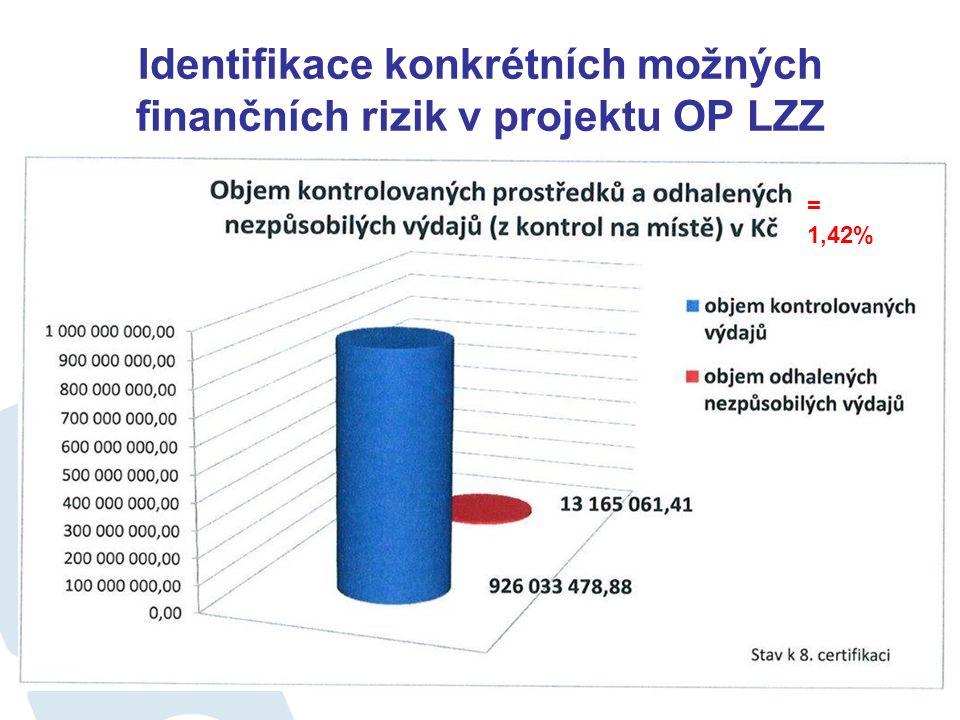 Identifikace konkrétních možných finančních rizik v projektu – OP LZZ