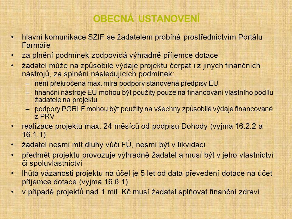 Operace 4.2.1 Definice žadatele/příjemce dotace 2 záměry a) Zemědělské podniky Zemědělský podnikatel dle zákona č.