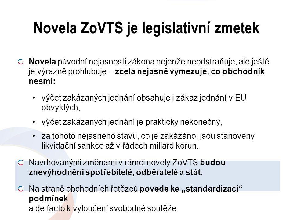 Novela ZoVTS je legislativní zmetek Novela původní nejasnosti zákona nejenže neodstraňuje, ale ještě je výrazně prohlubuje – zcela nejasně vymezuje, c