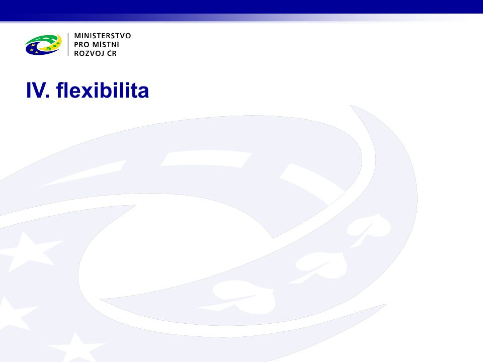 IV. flexibilita