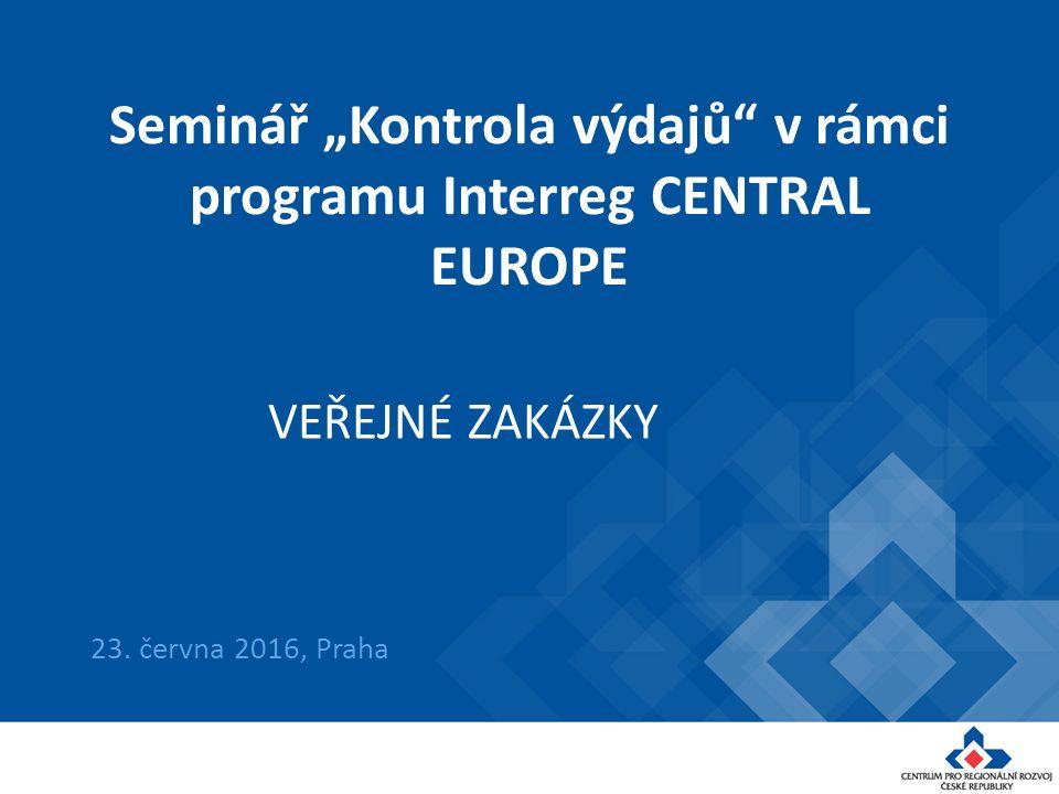 """Seminář """"Kontrola výdajů v rámci programu Interreg CENTRAL EUROPE 23."""