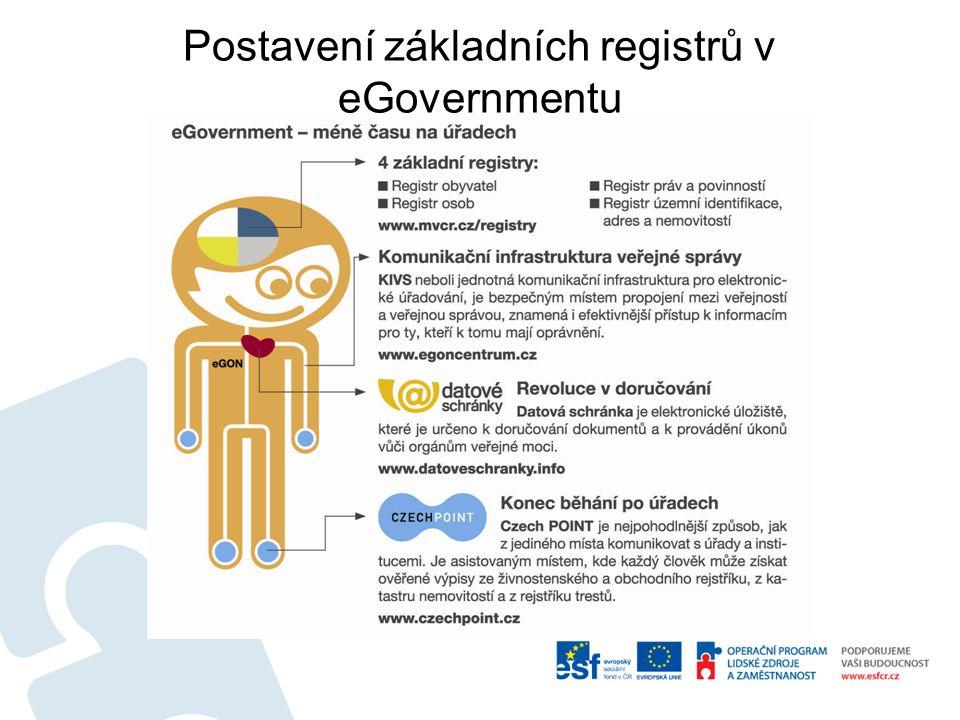 Postavení základních registrů v eGovernmentu