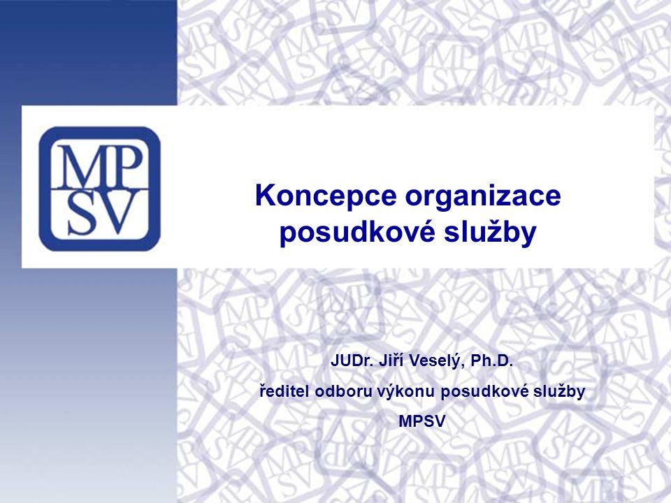 Koncepce organizace posudkové služby JUDr. Jiří Veselý, Ph.D.