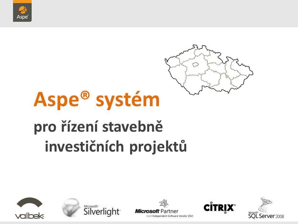 Aspe® systém pro řízení stavebně investičních projektů