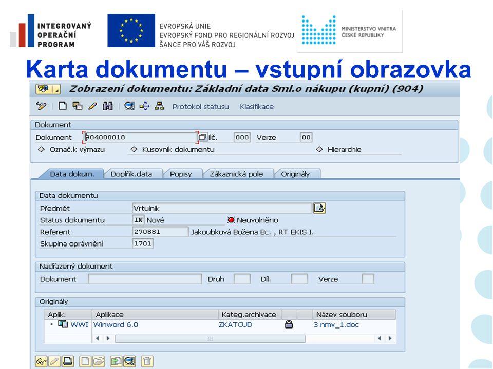 Správa dokumentů  Aktivní využívání bylo zahájeno v únoru 2012  K dnešnímu dni jsou do systému vloženy informace o cca 6 000 smlouvách  K cca k 4 000 záznamům je již přiložen i digitalizovaný dokument