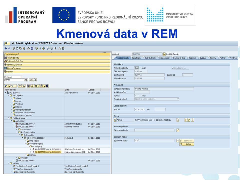Správa nemovitostí  Neúčetní část (bez vazby na účetní okruh) - podrobná data o nemovitém majetku;  Účetní část (vazba na účetní okruh) financování provozu evidence majetku s vazbou na modul AM; zúčtování odpisů z AM; rozúčtování nákladů na objekty REM; zúčtování nákladů na organizační NS