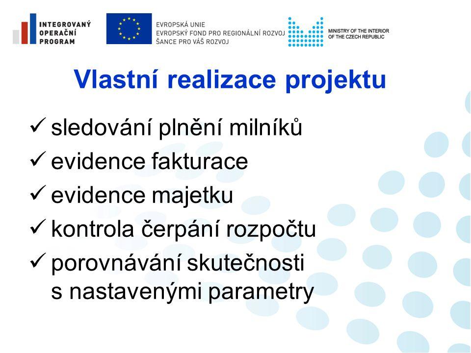 Realizace veřejné zakázky sledování jednotlivých fází veřejné zakázky, popř.