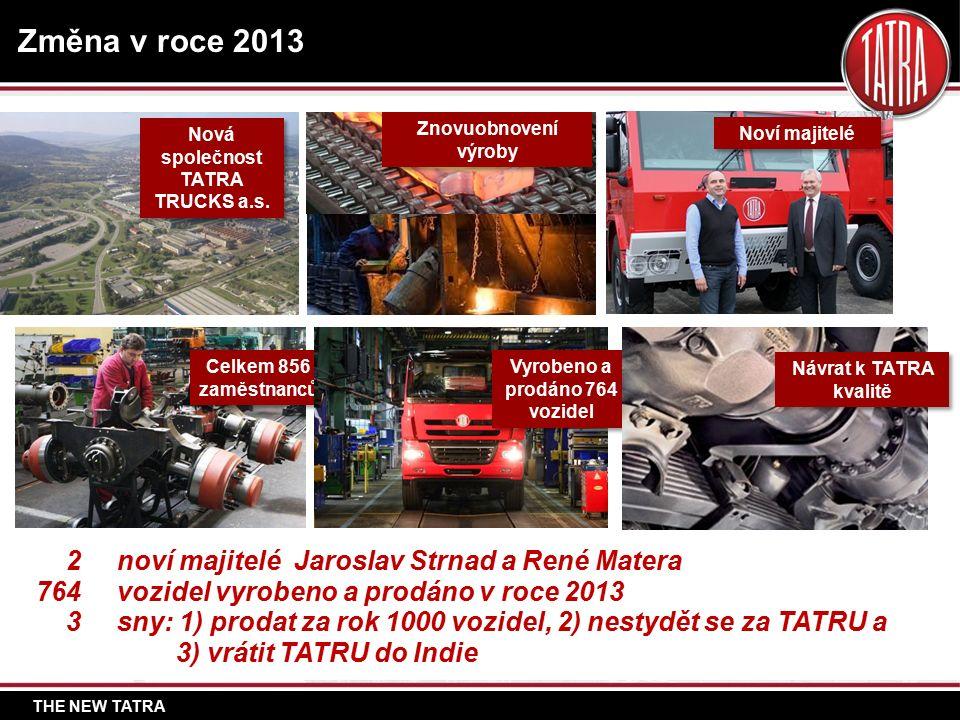THE NEW TATRA Změna v roce 2013 Nová společnost TATRA TRUCKS a.s.