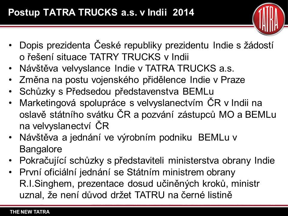 THE NEW TATRA Postup TATRA TRUCKS a.s.