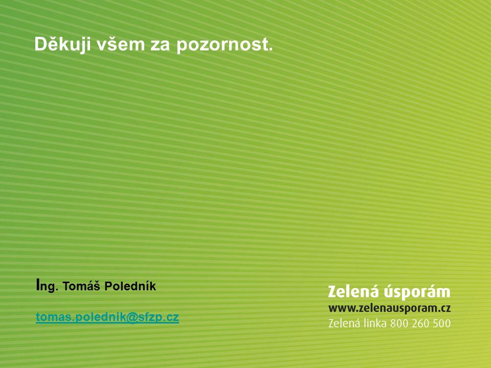 Děkuji všem za pozornost. I ng. Tomáš Poledník tomas.polednik@sfzp.cz
