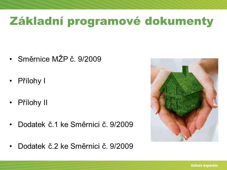Základní programové dokumenty Směrnice MŽP č.