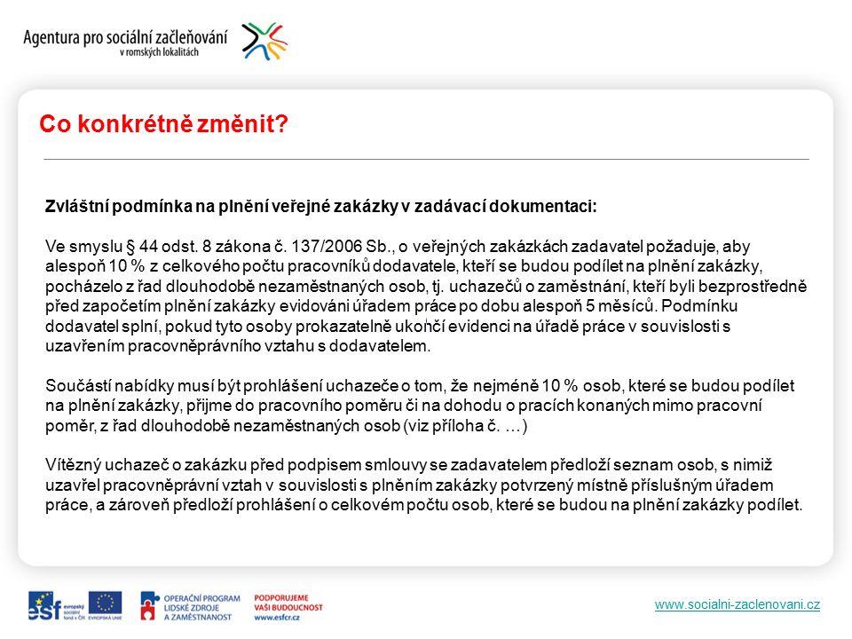 www.socialni-zaclenovani.cz Co konkrétně změnit.Příloha č.
