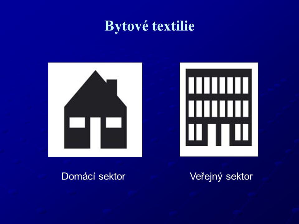Bytové textilie Domácí sektorVeřejný sektor