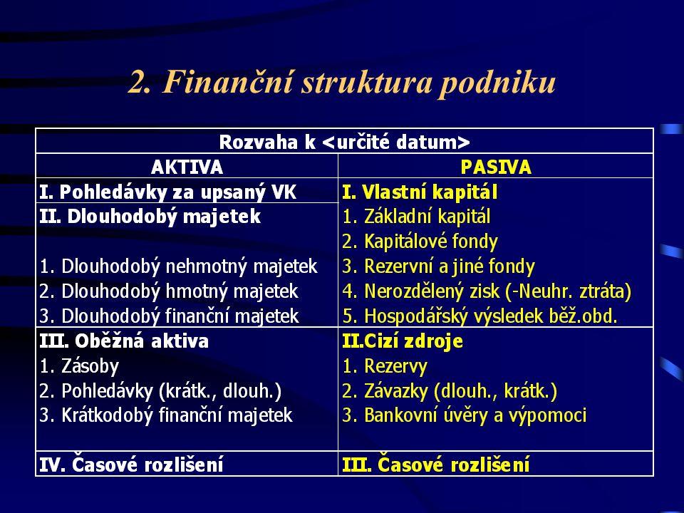 2. Finanční struktura podniku