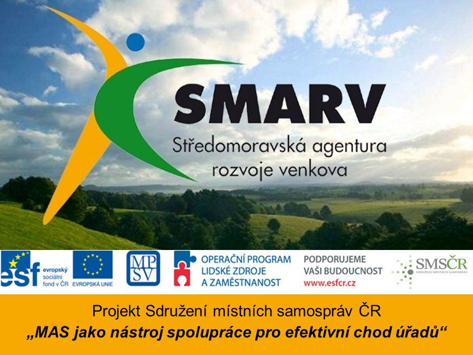 """Projekt Sdružení místních samospráv ČR """"MAS jako nástroj spolupráce pro efektivní chod úřadů"""