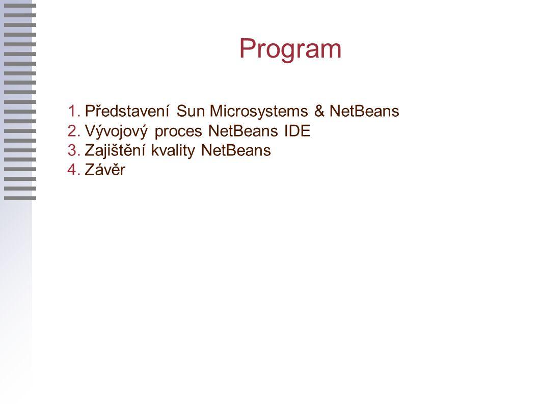 Program 1. Představení Sun Microsystems & NetBeans 2.