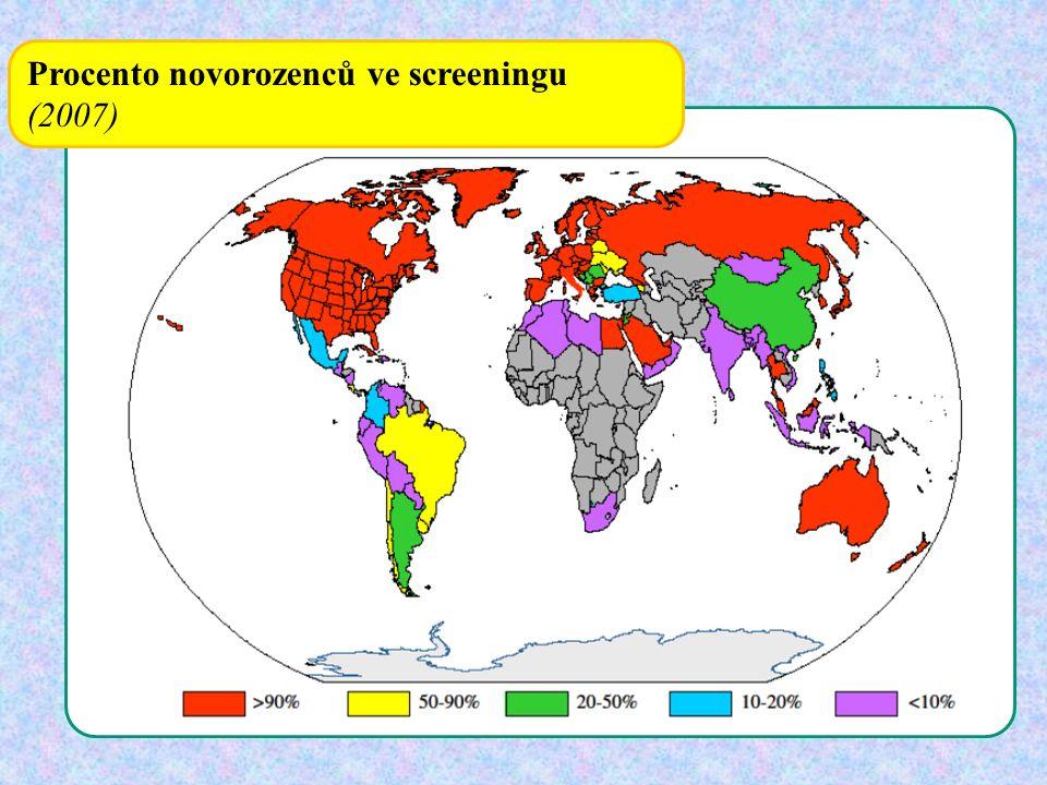 Procento novorozenců ve screeningu (2007)