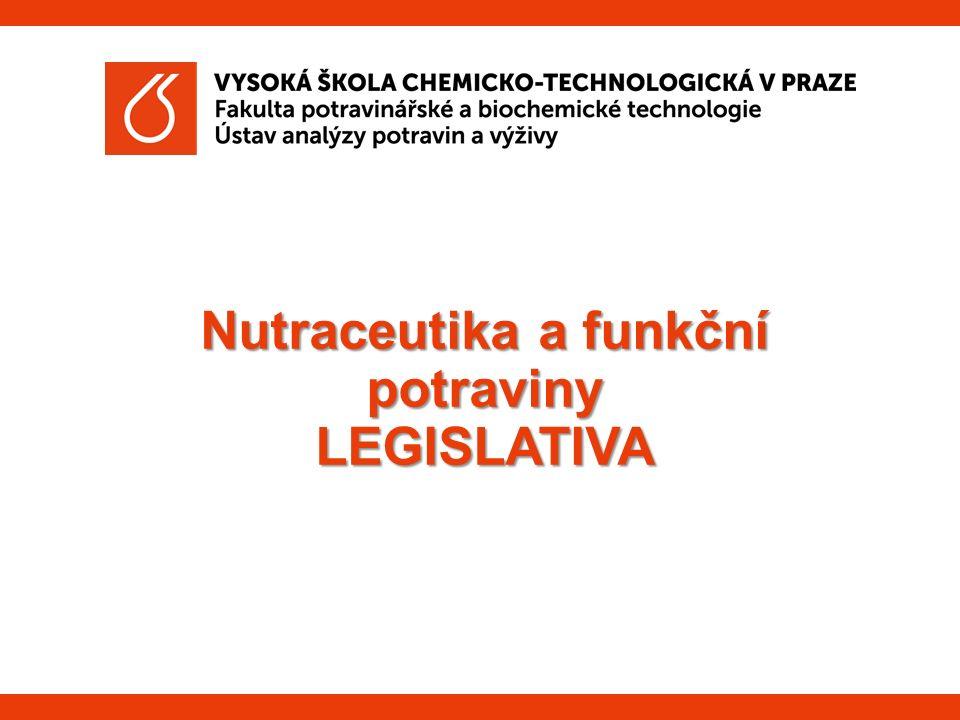 Nutraceutika a funkční potraviny LEGISLATIVA