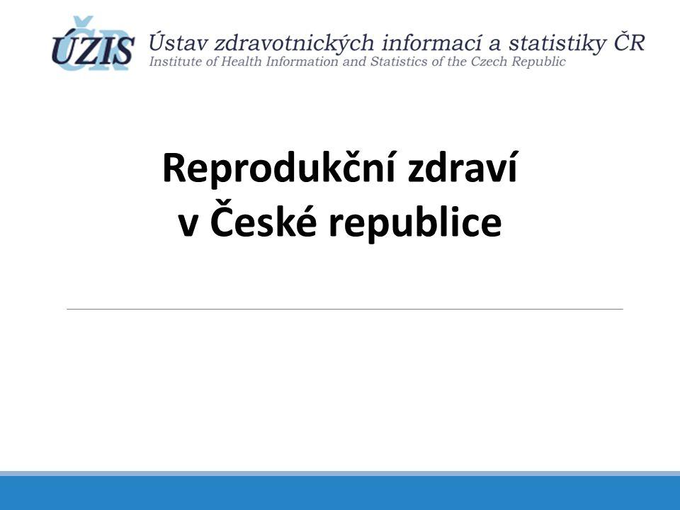 Zajištění sledování reprodukčního zdraví v ČR a základní populační data Část 1.