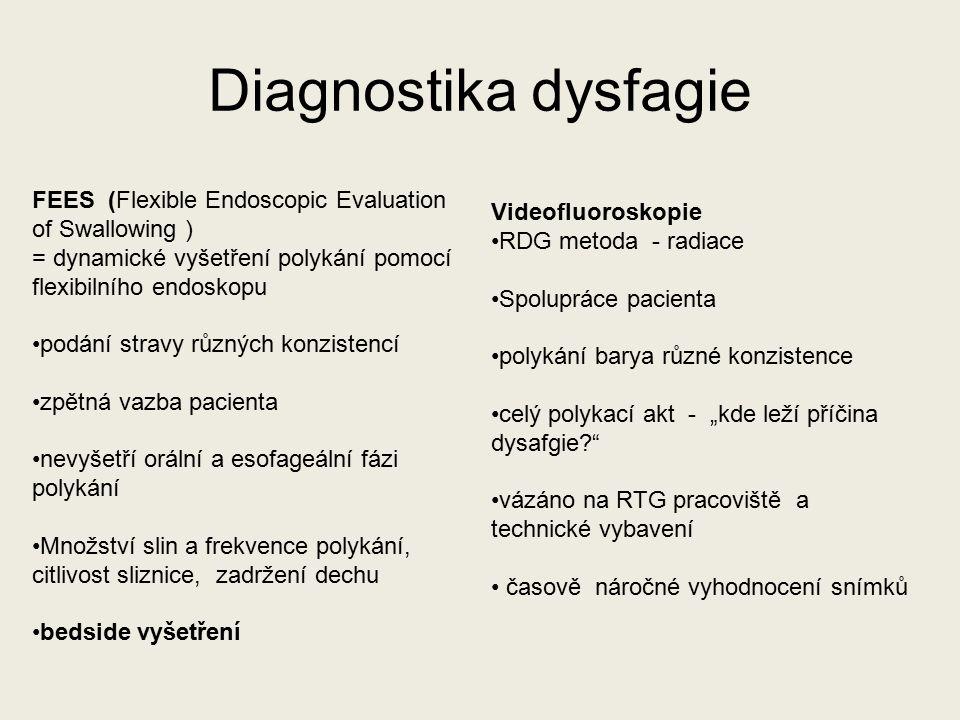 """Videofluoroskopie RDG metoda - radiace Spolupráce pacienta polykání barya různé konzistence celý polykací akt - """"kde leží příčina dysafgie?"""" vázáno na"""