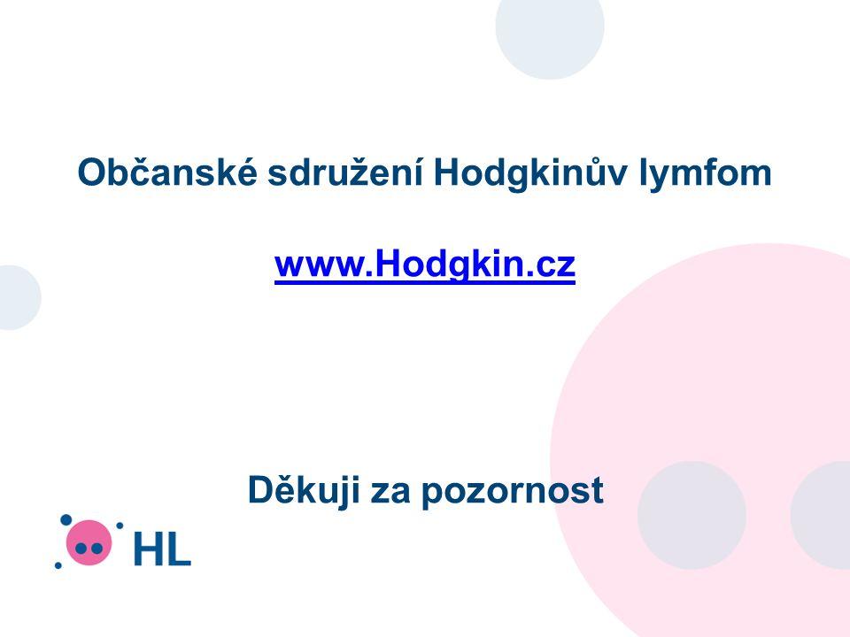 Občanské sdružení Hodgkinův lymfom www.Hodgkin.cz Děkuji za pozornost